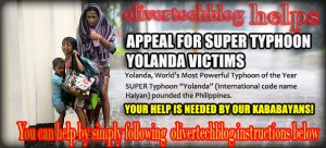 Help Typhoon Yolanda Victims